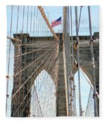 Brooklyn Bridge Cables Fleece Blanket