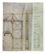 Brooklyn Bridge: Diagram Fleece Blanket