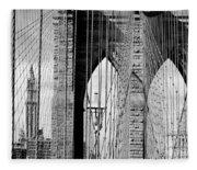 Brooklyn Bridge New York City Usa Fleece Blanket