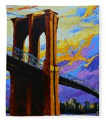 Brooklyn Bridge New York Landmark Fleece Blanket