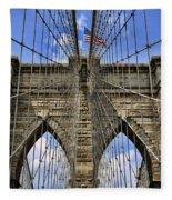Brooklyn Bridge Ny Fleece Blanket
