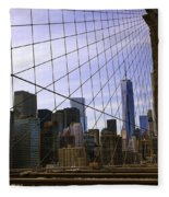 Brooklyn Bridge View Fleece Blanket