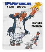 Brooklyn Dodgers 1955 Yearbook Fleece Blanket