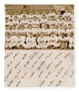 Brooklyn Dodgers Baseball Team Fleece Blanket