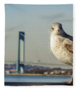 Brooklyn Seagull Fleece Blanket