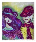 Brother And Sister  Fleece Blanket