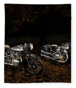Brough Superior Ss100 And 680 Fleece Blanket