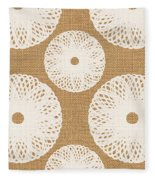 Brown And White Floral Fleece Blanket