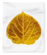 Brown And Yellow Aspen Leaf 2 Fleece Blanket