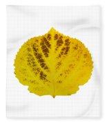 Brown And Yellow Aspen Leaf 3 Fleece Blanket
