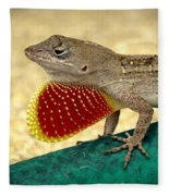 Brown Anole Fleece Blanket