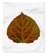 Brown Aspen Leaf 2 Fleece Blanket