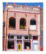Brown Bear Cafe Silverton Colorado Fleece Blanket