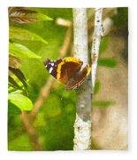 Brown Butterfly 2 Fleece Blanket