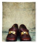 Brown Children Shoes Fleece Blanket