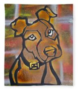 Brown Dog Fleece Blanket
