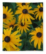 Brown Eyed Susans Fleece Blanket
