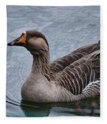 Brown Feathered Goose Fleece Blanket
