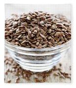 Brown Flax Seed Fleece Blanket