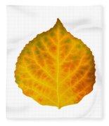 Brown Green Orange Red And Yellow Aspen Leaf 3 Fleece Blanket
