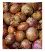 Brown Onions Fleece Blanket