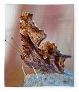 Brown Paper Moth Fleece Blanket