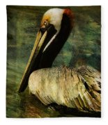Brown Pelican Beauty Fleece Blanket