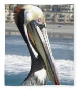 Brown Pelican Fleece Blanket