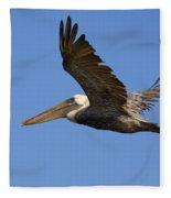 Brown Pelican Flight Fleece Blanket