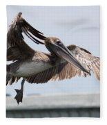 Brown Pelican Landing Fleece Blanket