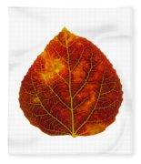 Brown Red And Yellow Aspen Leaf 1 Fleece Blanket
