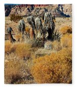 Brown Ridge Line Fleece Blanket