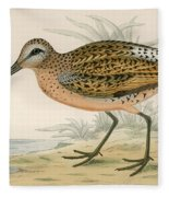 Brown Snipe Fleece Blanket