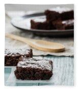 Brownies With A Wood Spoon Kitchen Art Fleece Blanket