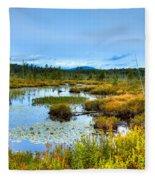 Browns Tract Inlet Waterway Fleece Blanket