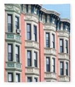 Brownstone Art Hoboken Nj Fleece Blanket