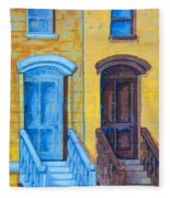 Brownstone Mural Art Fleece Blanket