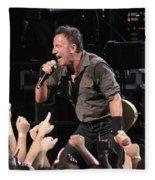 Musician Bruce Springsteen Fleece Blanket