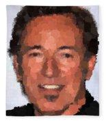 Bruce Springsteen Portrait Fleece Blanket