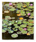 Bruges Lily Pond Fleece Blanket