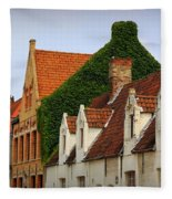 Bruges Rooftops Fleece Blanket