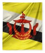 Brunei Flag Fleece Blanket
