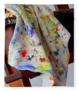 Brush Cleaner Fleece Blanket