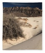 Brush In The Dunes Fleece Blanket