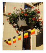 Brussels Belgium - Flowers Flags Football Fleece Blanket