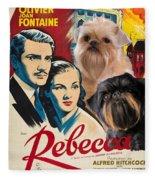 Brussels Griffon Art - Rebecca Movie Poster Fleece Blanket