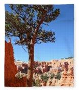 Bryce Canyon Pine Fleece Blanket