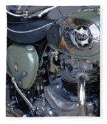 Bsa Motorcycle Fleece Blanket