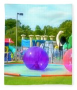 Bubble Ball 4   Fleece Blanket