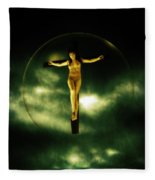 Bubble Crucifix Fleece Blanket